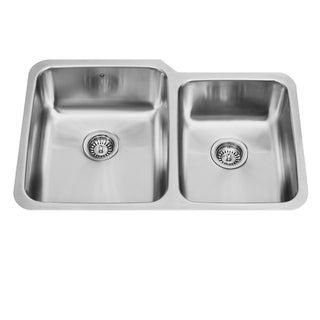 VIGO 32-inch Undermount 18 Gauge Double Bowl Kitchen Sink