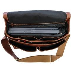 Amerileather 'Woody' Leather Laptop Messenger Bag
