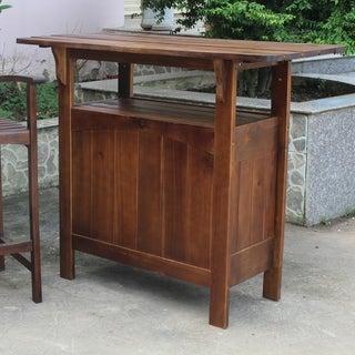 International Caravan Outdoor Wooden Bar Table