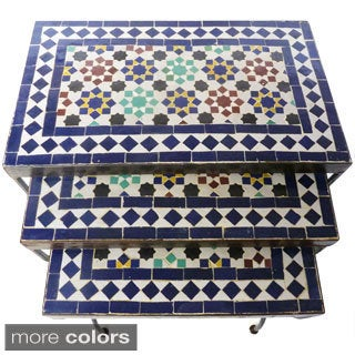 Mosaic Coin Tables - Set of 3 (Morocco)