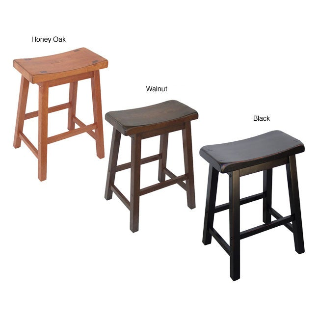 Saddle Seat 24 Inch Counter Stools Set Of 2 Overstock