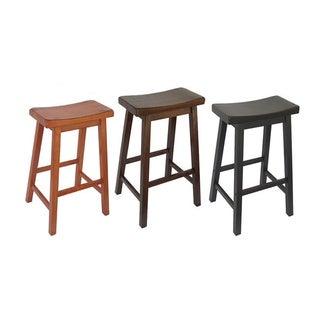 Saddle Seat 29-inch Barstools (Set of 2)