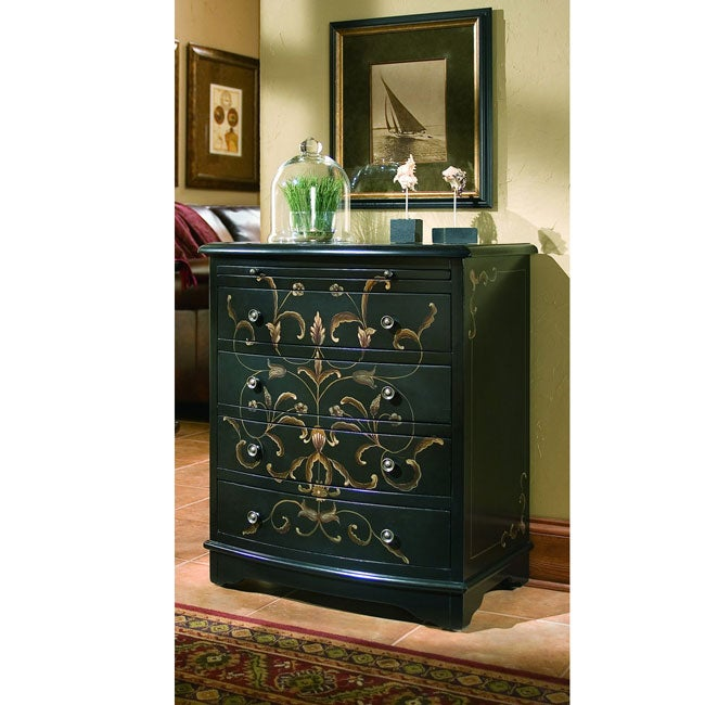 Hand-painted Onyx Accent Chest