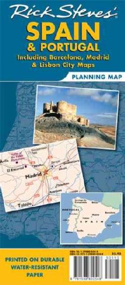 Rick Steves' Spain & Portugal: Including Barcelona, Madrid & Lisbon City Maps (Sheet map, folded)