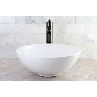 Round Vitreous China Above-Counter Vessel Sink