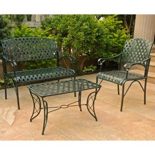 International Caravan Diamond Lattice Three-piece Settee Group
