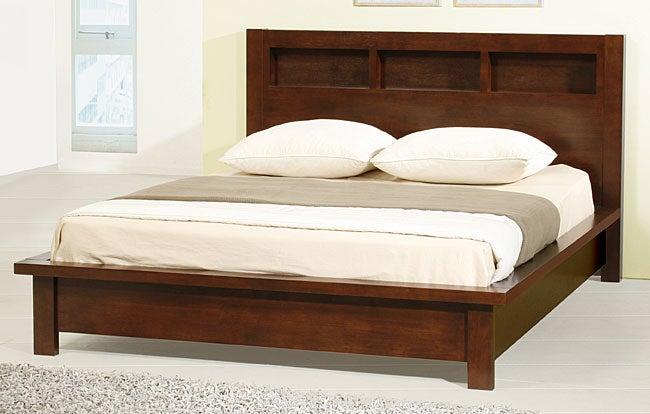 Creighton Walnut Cherry Queen-size Bed