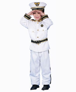 Deluxe Navy Admiral Costume Set