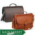 Aston Leather Double-compartment Oversized Briefcase