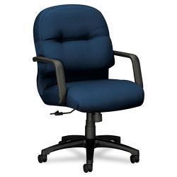 HON 2090 Pillow Soft Series Blue Mid Back Fabric Chair