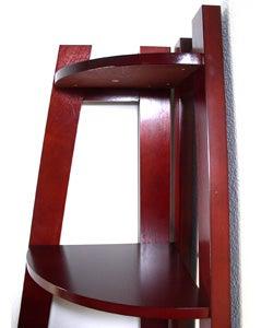 Wooden 5-tier Corner Bookshelf