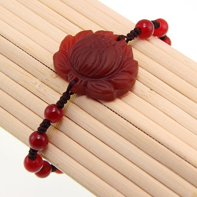 Agate Lotus Flower Bracelet (China)