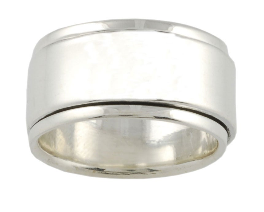 Journee Collection Sterling Silver Wide Spinner Band