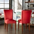 TRIBECCA HOME Parson Cranberry Red Dining Chairs (Set of 2)