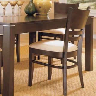 TRIBECCA HOME Venice Espresso Cushioned Dining Chair (Set of 2)
