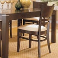 ETHAN HOME Venice Espresso Cushioned Dining Chair (Set of 2)