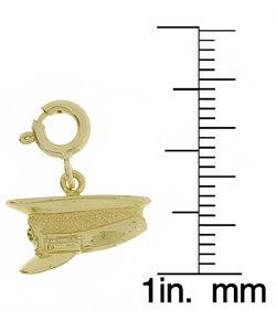 14k Gold Police Hat Charm
