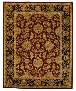 Safavieh Handmade Heritage Kashan Burgundy/ Black Wool Rug (9'6' x 13'6)