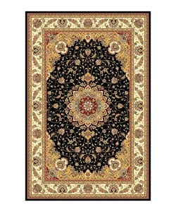 Safavieh Lyndhurst Collection Traditional Black/ Ivory Rug (5'3 x 7'6)