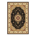 Safavieh Lyndhurst Collection Traditional Black/ Ivory Rug (5'3 x 7'6)