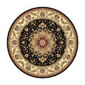Safavieh Lyndhurst Collection Traditional Black/ Ivory Rug (8' Round)