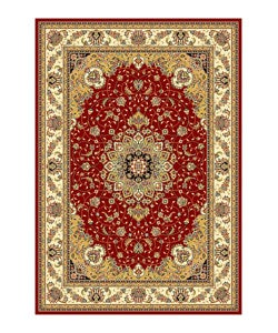Safavieh Lyndhurst Collection Red/Ivory Oriental Rug (8' x 11')