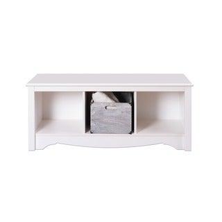 Winslow White Cubbie Bench