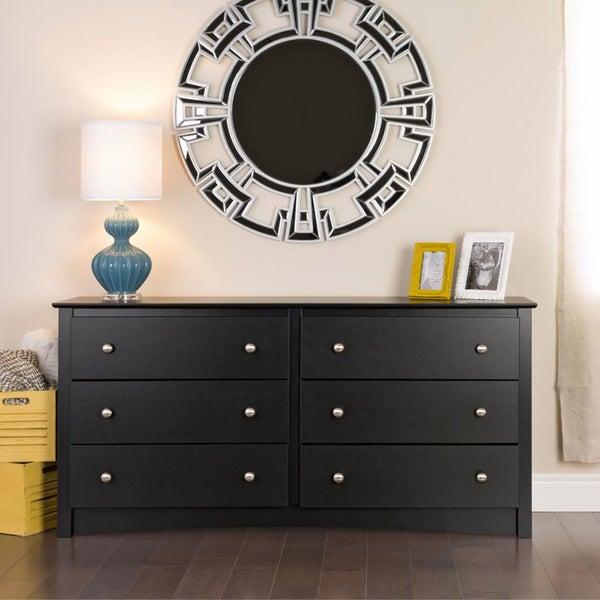 Broadway Black 6-drawer Dresser