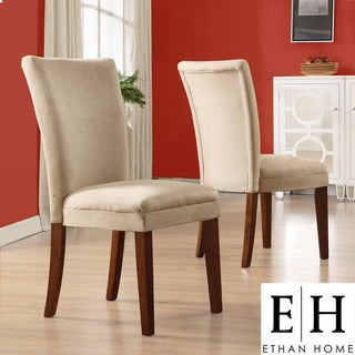 ETHAN HOME Parson Classic Peat Microfiber Side Chairs (Set of 2)