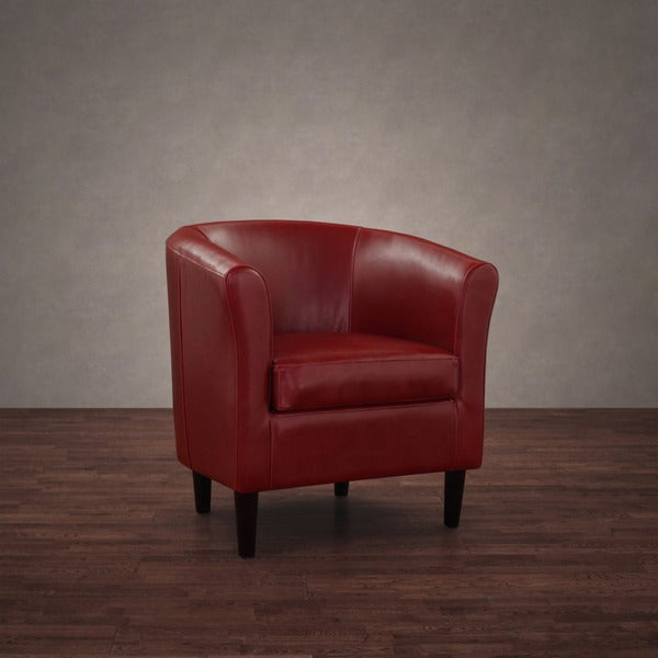 Tovano Burnt Red Leather Arm Chair