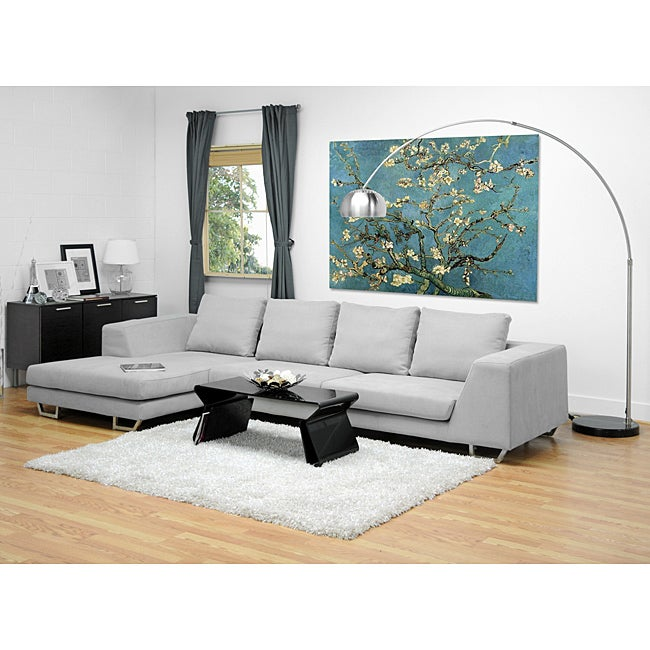 Metropolitan Large Grey Sectional Sofa with Chaise