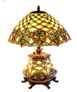 Tiffany-style Double Lite Table Lamp