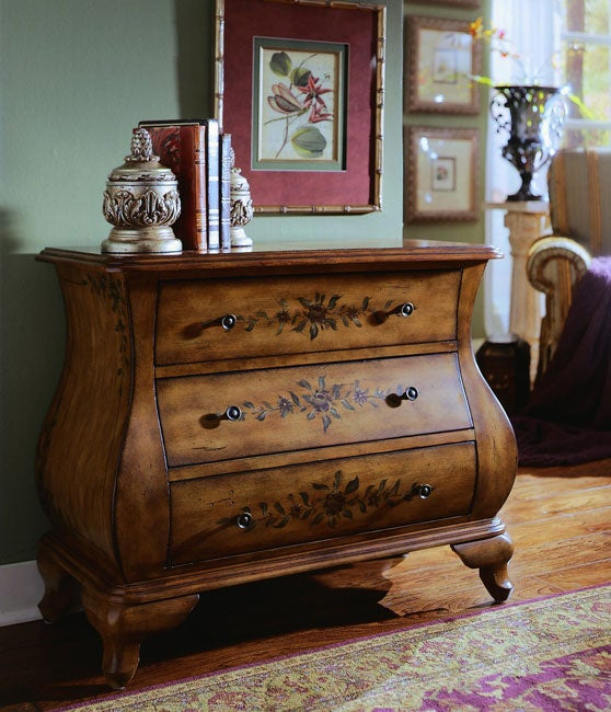 Hand-painted Chestnut Bombay Chest