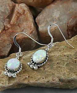 Indian Handcrafted Oval Elegance Opal Earrings (Set of 2)