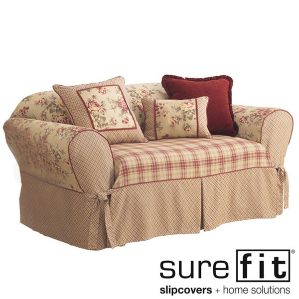 Sure fit lexington washable sofa slipcover overstock for Washable couch cover