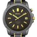 Seiko Men's Black Ion-plated Steel Perpetual Calendar Watch
