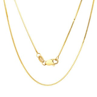 Sterling Essentials 14k Yellow Gold Venetian Box Chain Necklace