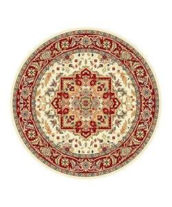 Safavieh Lyndhurst Collection Ivory/ Red Area Rug (5'3 Round)