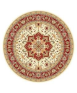 Safavieh Lyndhurst Collection Ivory/ Red Area Rug (8' Round)