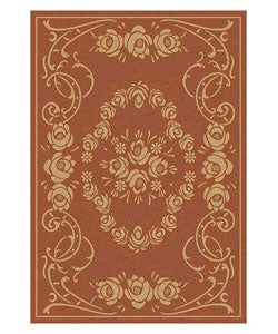 Safavieh Indoor/ Outdoor Garden Terracotta/ Natural Rug (5'3 x 7'7)
