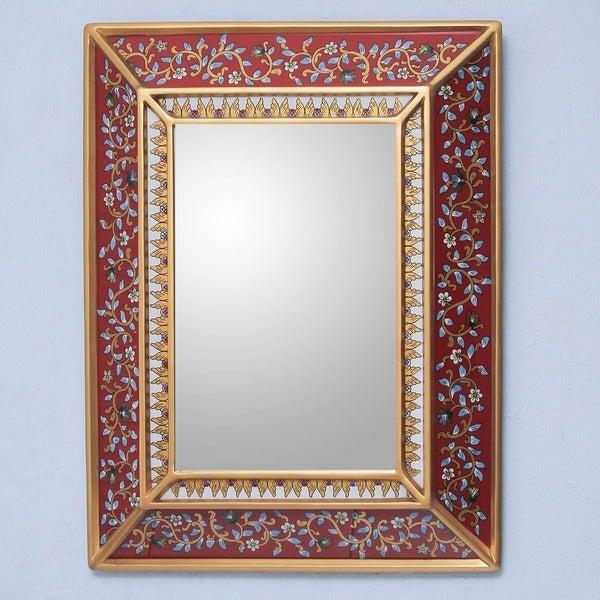 Cedar Bluebells on Scarlet Mirror (Peru)