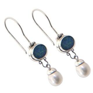 Pearl and Opal Harmony Earrings (Bali)