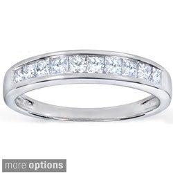 Annello 14k Gold 1/2ct TDW Princess Diamond Wedding Band (H-I, I1-I2)