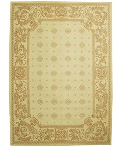 Safavieh Indoor/ Outdoor Beaches Natural/ Terracotta Rug (7'10 x 11')