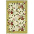 Safavieh Hand-hooked Botanical Ivory/ Yellow Wool Rug (3'9 x 5'9)