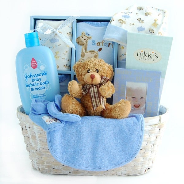 Baby Boy Gift Sets Newborn : New arrival baby boy gift basket overstock ping