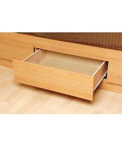 Maple Queen Mate's 6-drawer Platform Storage Bed