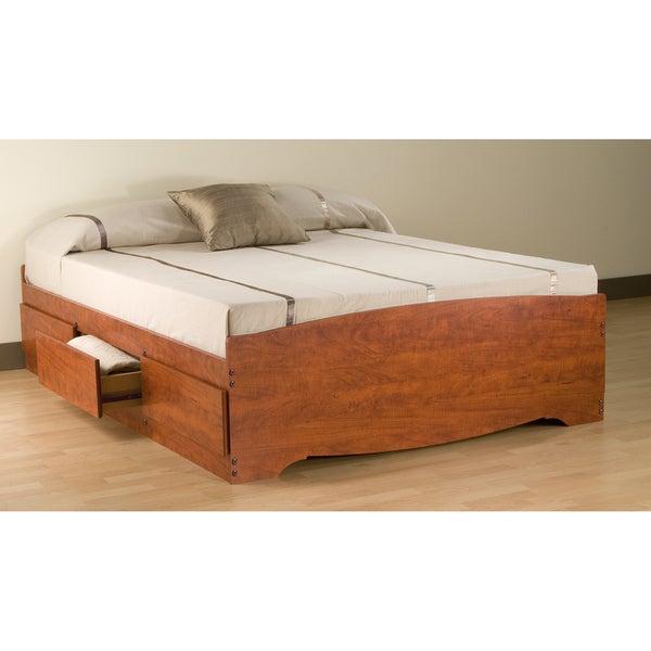 Cherry Full Mate's 6-drawer Platform Storage Bed