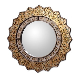 Hand-painted Marigold Mirror (Peru)