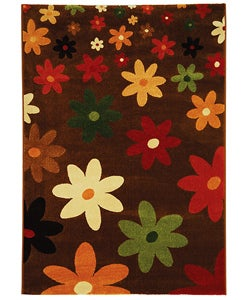 Safavieh Fine-spun Daises Brown/ Multi Area Rug (5'3 x 7'7)